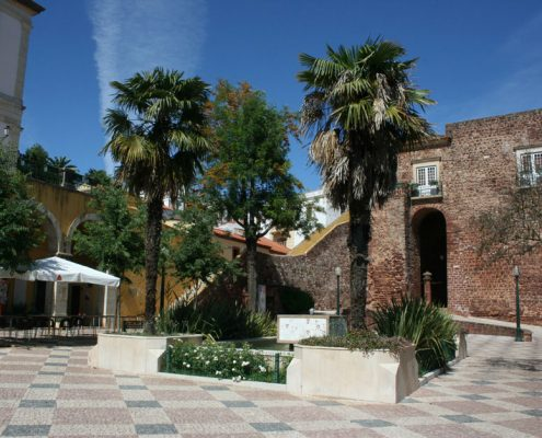 The immaculate main square in Silves best kept secret