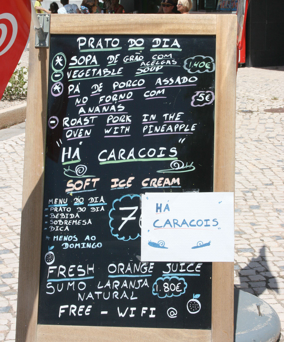 Multilingual menus, but reasonable prices for all tongues