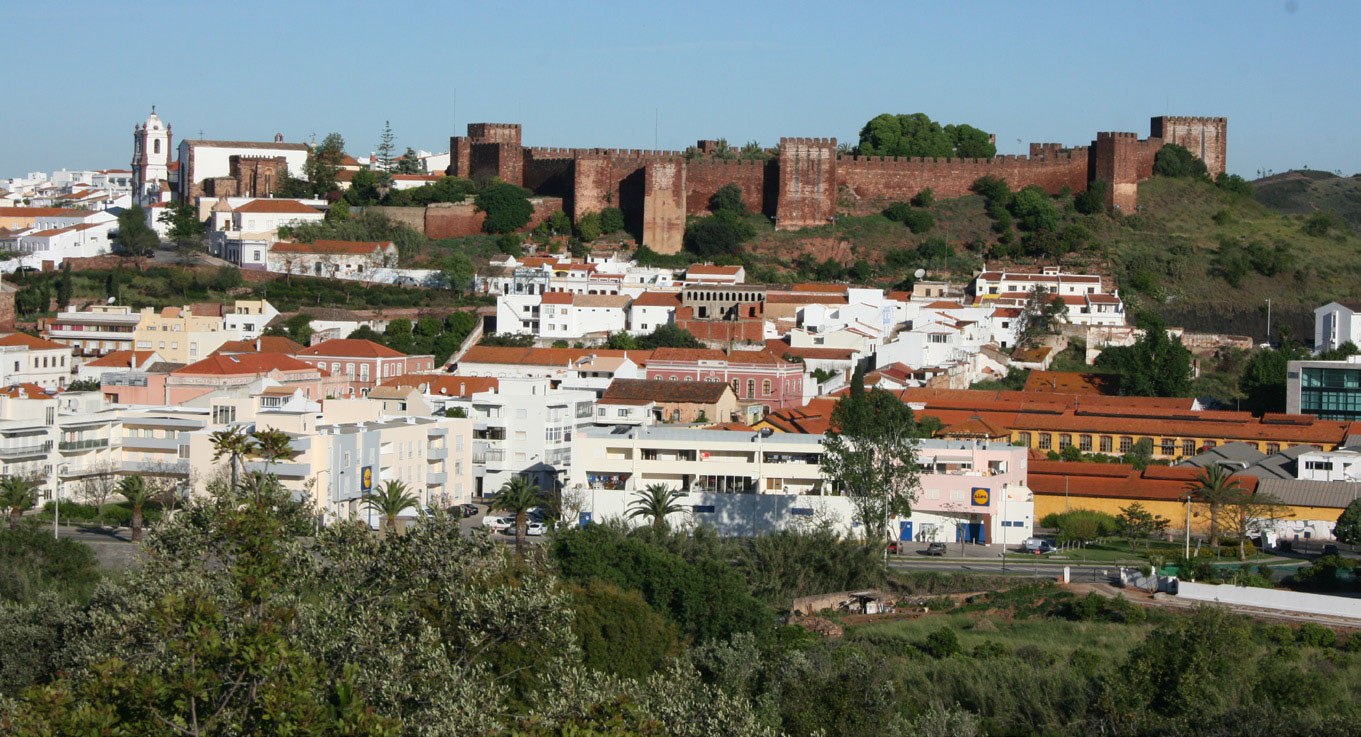 Silves city and castle from across the river