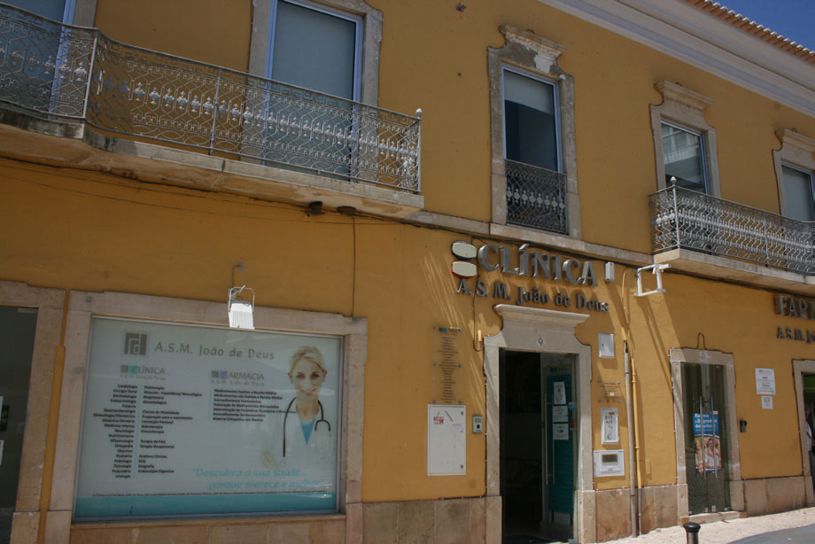The traditional façade belies the modern clinic and pharmacy Healthcare